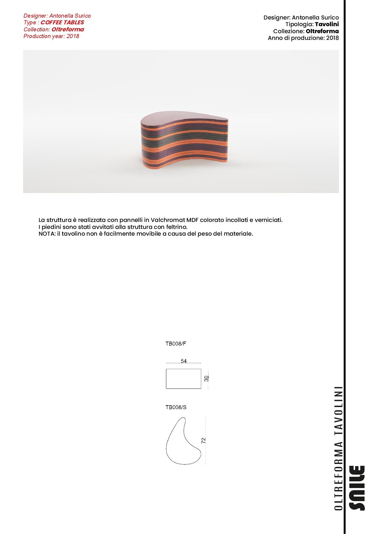 snile tavolini | scheda tecnica