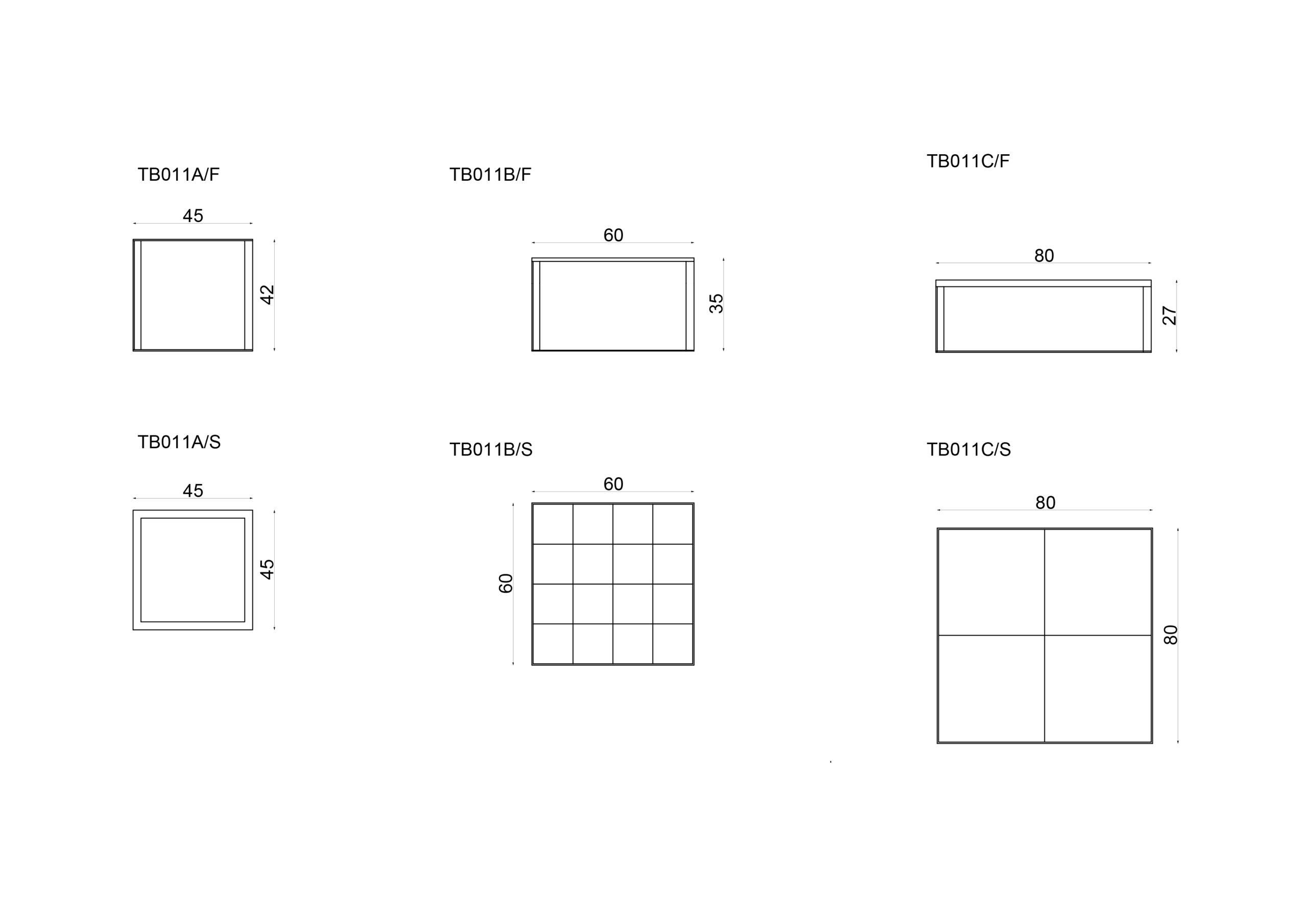 Cubic Tavolini Scheda Tecnica